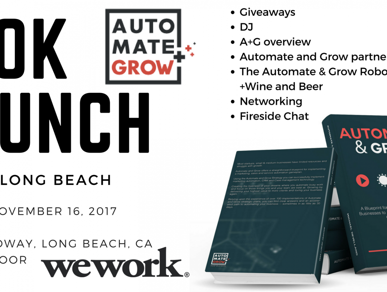 WeWork Long Beach | Beer & Pitches Happy Hour: Automate & Grow Book Launch Fireside Chat