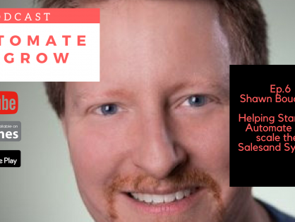 Episode 6 Shawn Bouchard Growing your sales using systems and technology